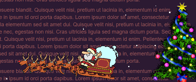 Christmas jQuery animation