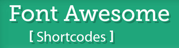 font awesome shortcodes