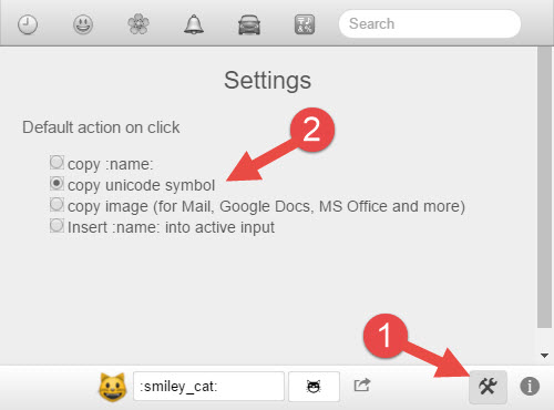 Emoji Helper Settings