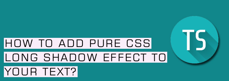 Pure CSS Long Shadow Effect