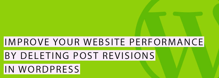 Delete Post Revisions from WordPress