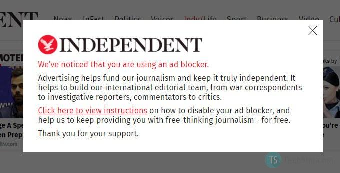 Independent adblocker