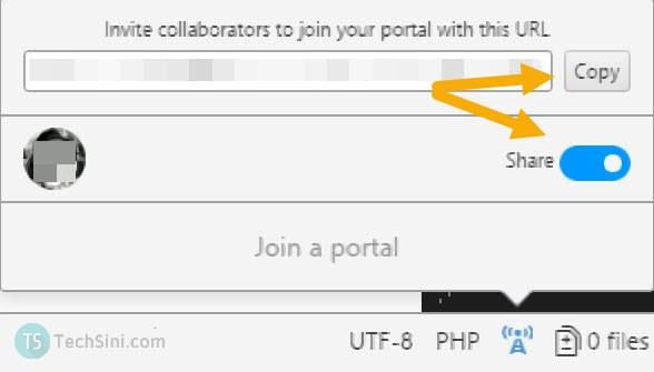 Atom share portal