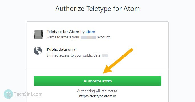 authorize atom screen