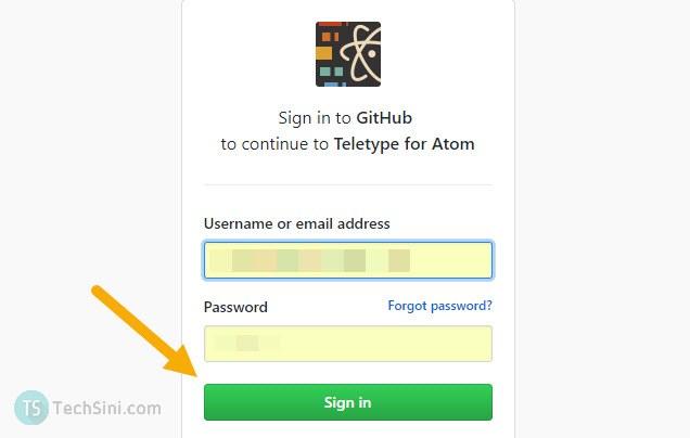 teletype github login