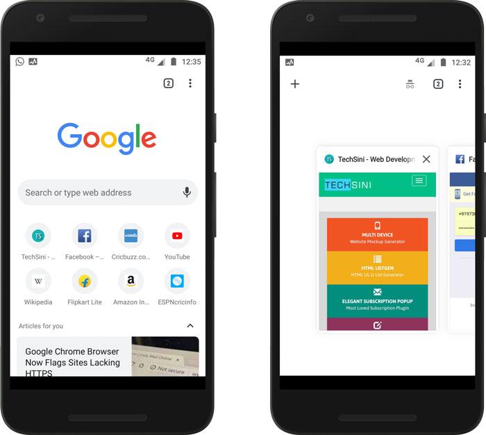 Chrome Canary Mobile Screenshot