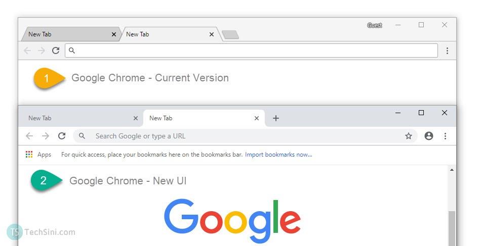 New Google Chrome UI Update