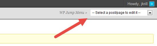 wp jump menu