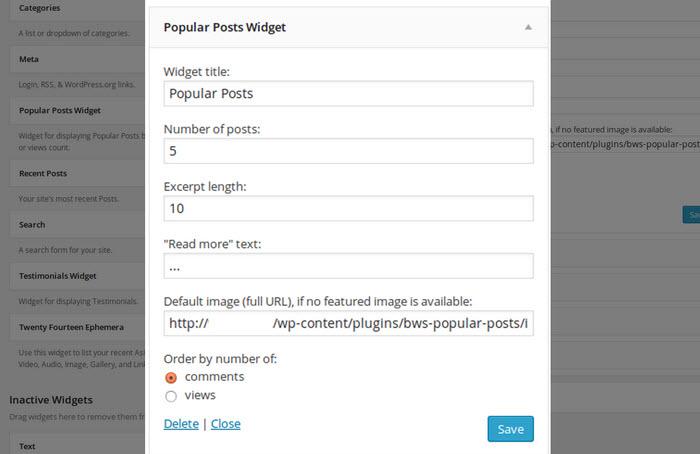 Popular Posts by BestWebSoft