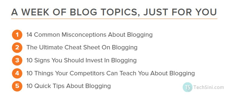 Hubspot's Blog Topic Generator