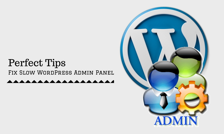 how to fix slow WordPress Admin Panel