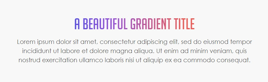 gradient text effect