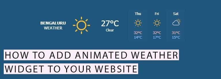 Animated Weather Widget To Your Website